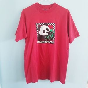 Vintage Hanes Columbus Zoo Panda graphic t-shirt L